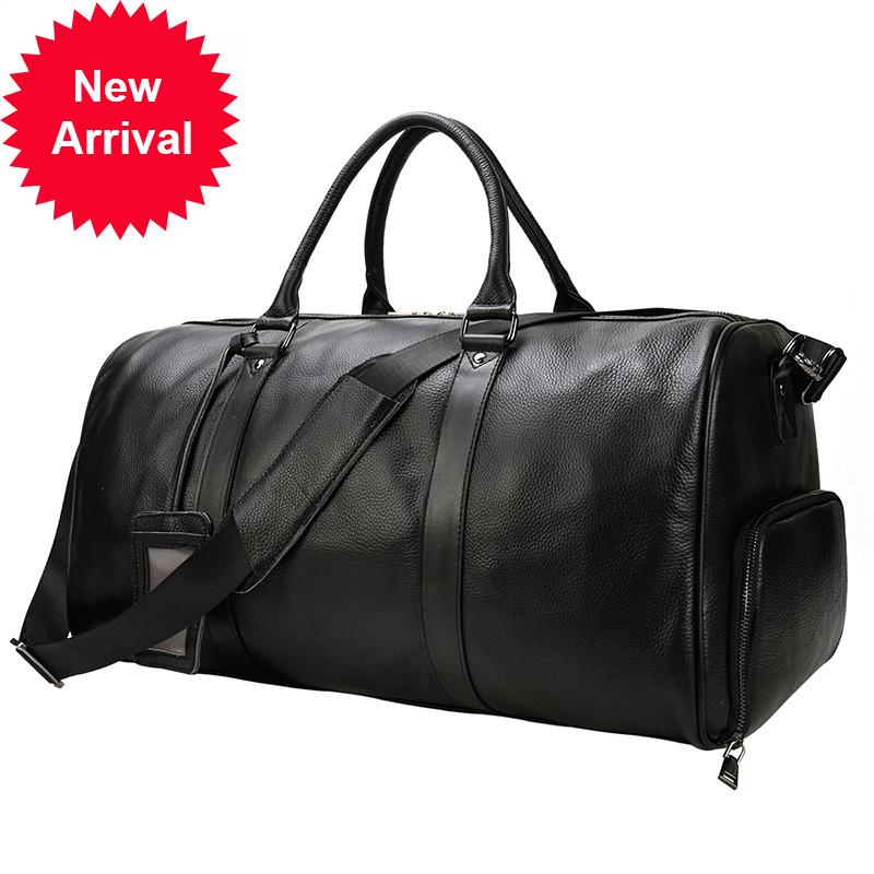 Mano de alta calidad de Maheus lleva el equipaje para la bolsa de lona de cuero de cabina de los hombres