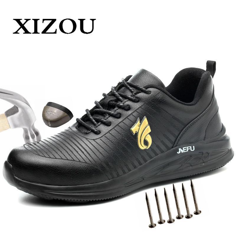 Zapatos de trabajo de Xizou con dedo del pie de seguridad Hombres Botas de oficina Indestructible anti aplastamiento PUNTURA A prueba de pruebas de botas para hombres 201126