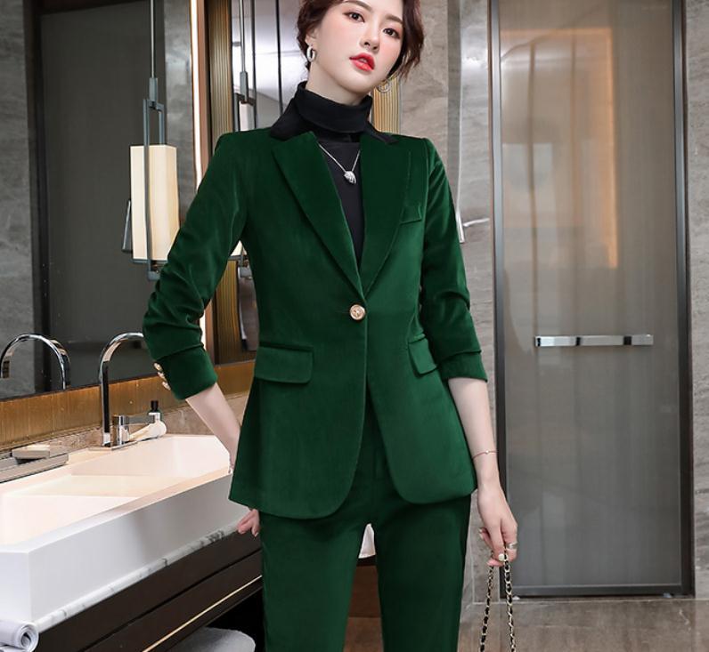 2021 primavera e outono inverno com novo estilo moda manga longa mulheres de veludo dourado western roupas casaco @ 836