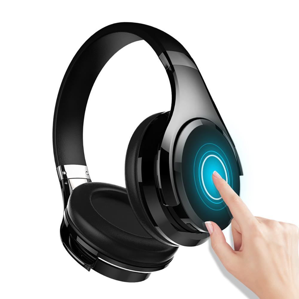 Fones de ouvido sem fio Bluetooth Baixo fone de ouvido sem fio com microfone para computador, telefones toque controle de alta qualidade