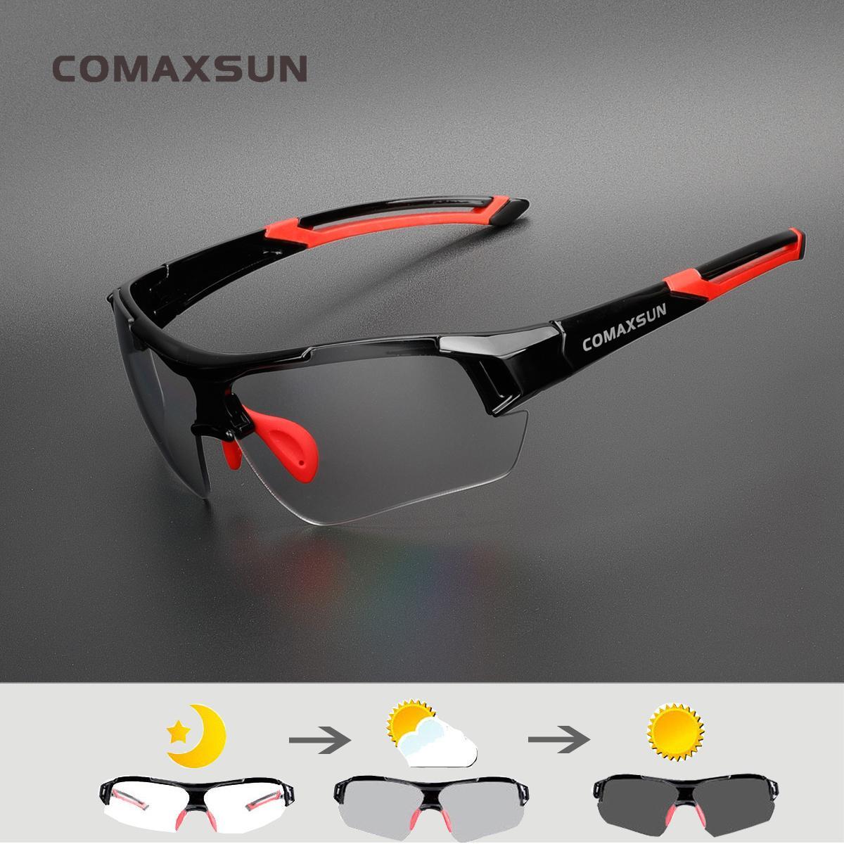 Comaxsun Photographromic Ciclismo Discolor de las gafas MTB Ruta Deporte Gafas de sol Bicicleta Gafas de bicicleta Gafas 2 Estilo
