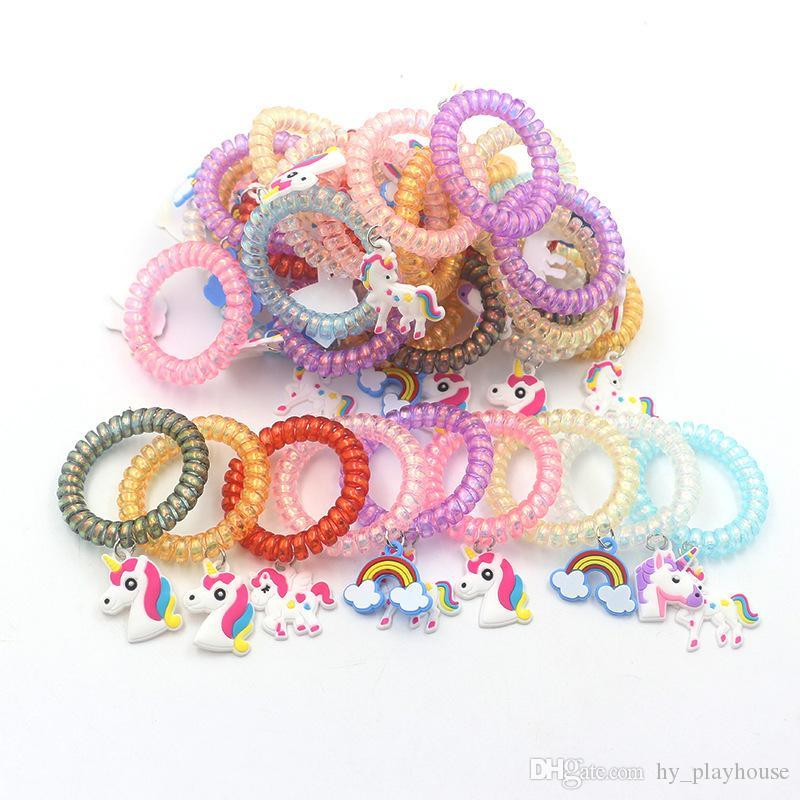 Kids Unique PVC Bracelet Multi-style Horse Bracelet Accessories PVC Cartoon Pendant Hair Accessories Wholesale