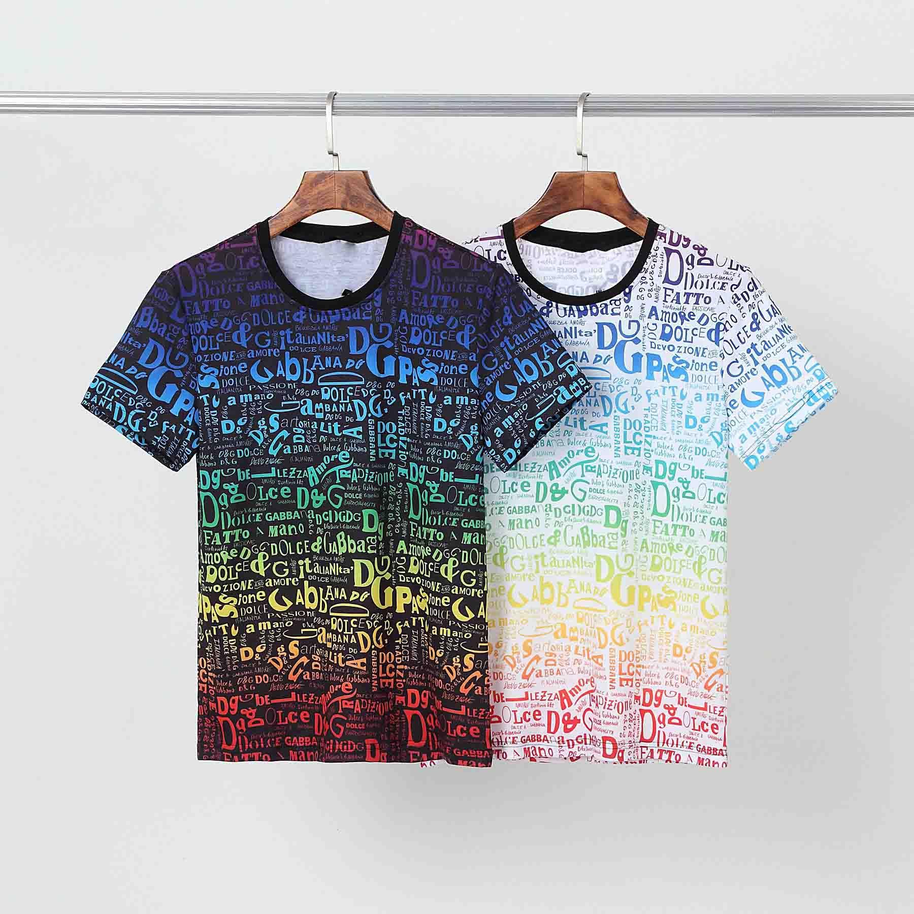 T-shirt da uomo di lusso T-shirt Casual Blackletter stampa estate uomo di alta qualità uomo moda moda tee