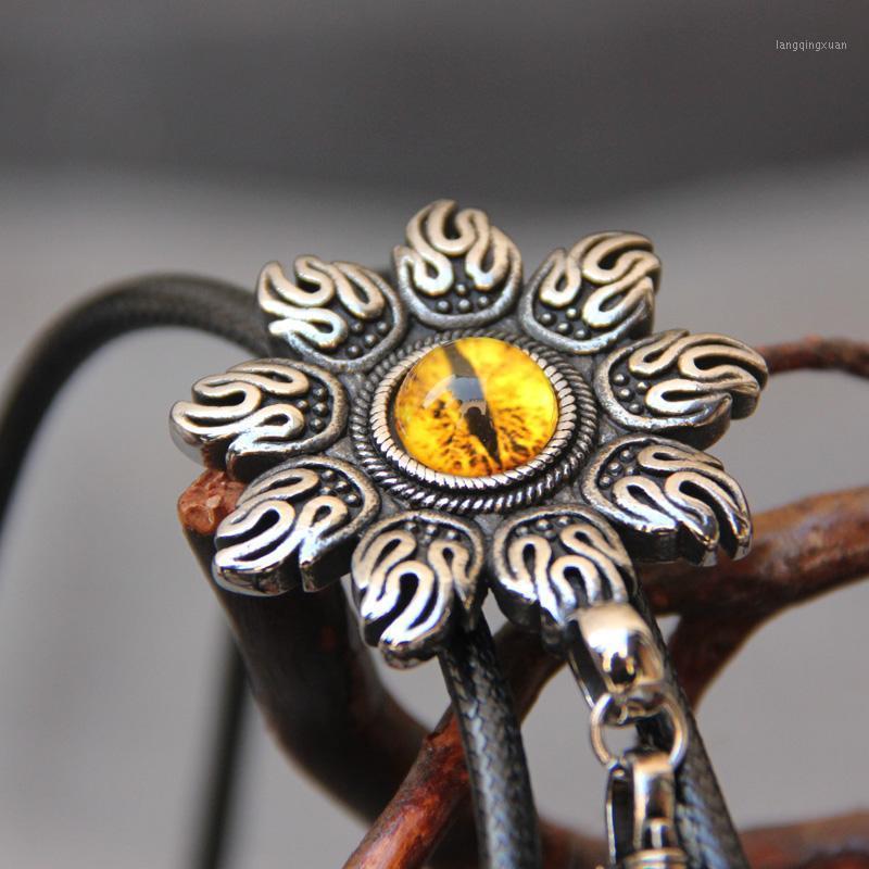 Collet originale in acciaio inox in acciaio inossidabile resina occhio bolo per uomo personalità collo cravatta Abbassory1
