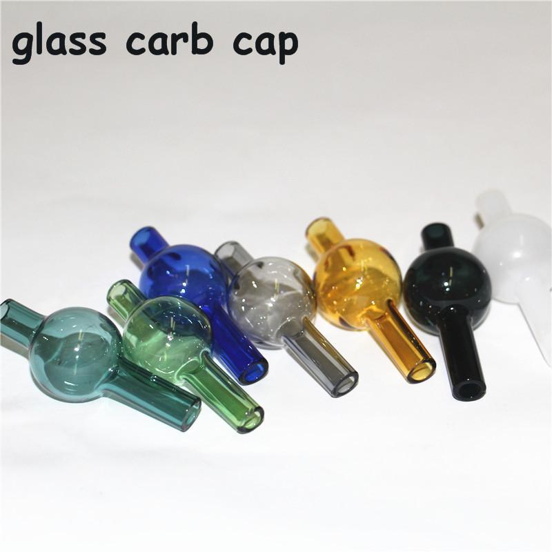 Tapa de carbón de burbujas de vidrio, tapa de carbohidratos de los EE. UU., Ciclón giratorios de cápsulas de carbohidratos para 25mm de cuarzo Banger Nails Terp Pearl Bong Ash Catcher