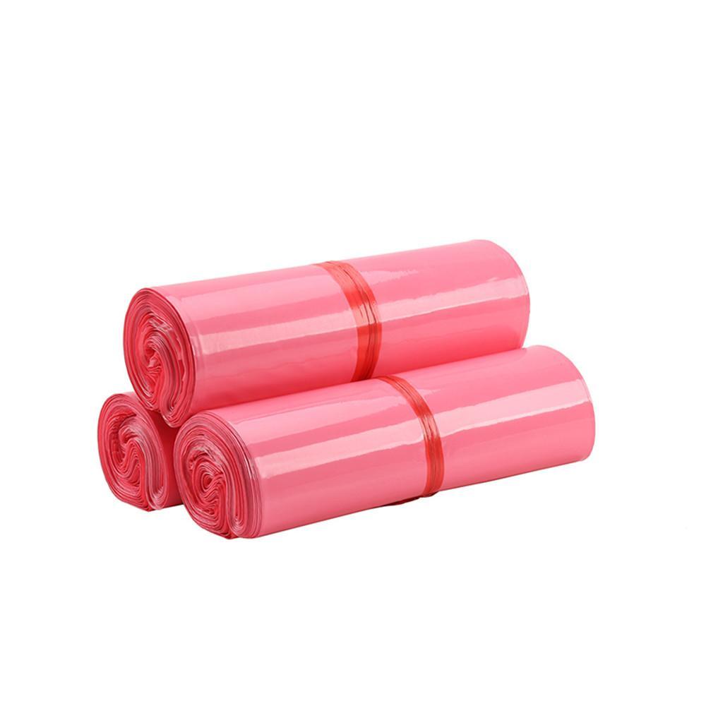 100 шт. Розовый экспресс самоклеящийся упаковочный пакет для одежды обувь продукция утолщенная водонепроницаемая курьерская сумка логистика сумка