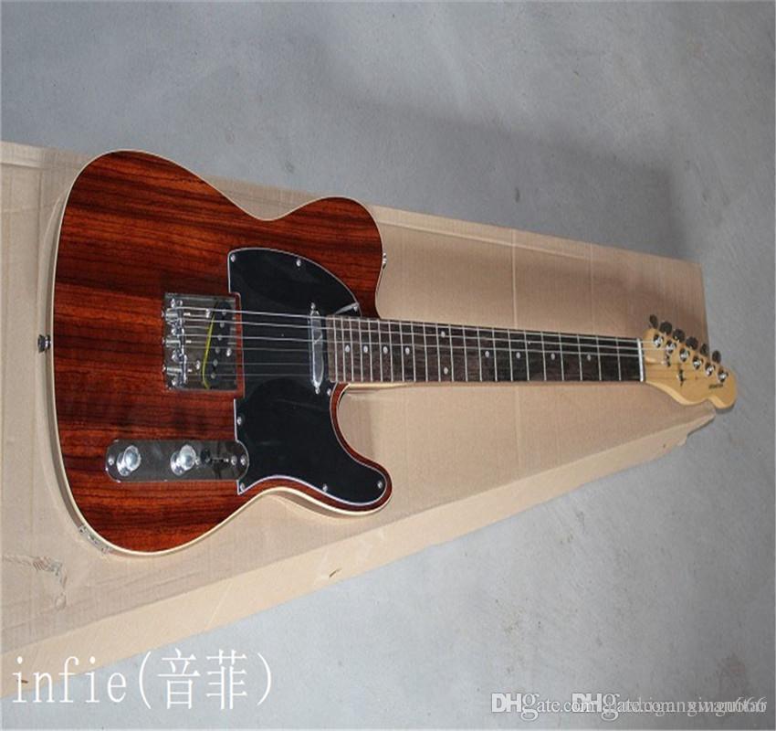 2021 Frete grátis quente! Tele guitarra alta qualidade tele guitarra telecaster guitarra elétrica borda de pão duplo em estoque