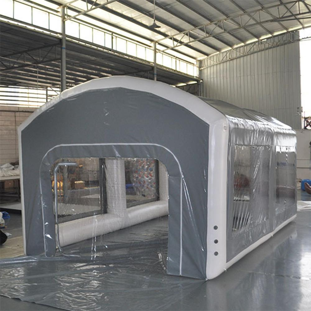 Airtight Outdoor Inflatable Spray Booth, Mobile Truck Painting Working Room car Care repair cleaning tent With Air Pump