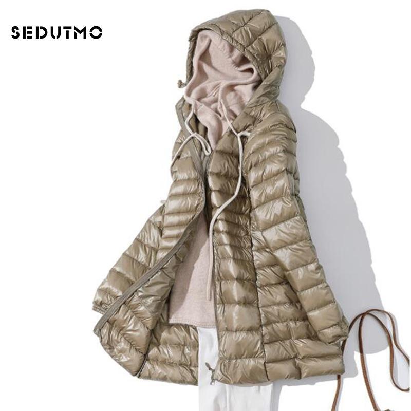 Sedutmo Winter Ultra Light Womens Long Womens Down Bowets Plus Size 7xl Duck Down Coat Puffer Chaqueta Slim Capucha Parkas ED621 201203