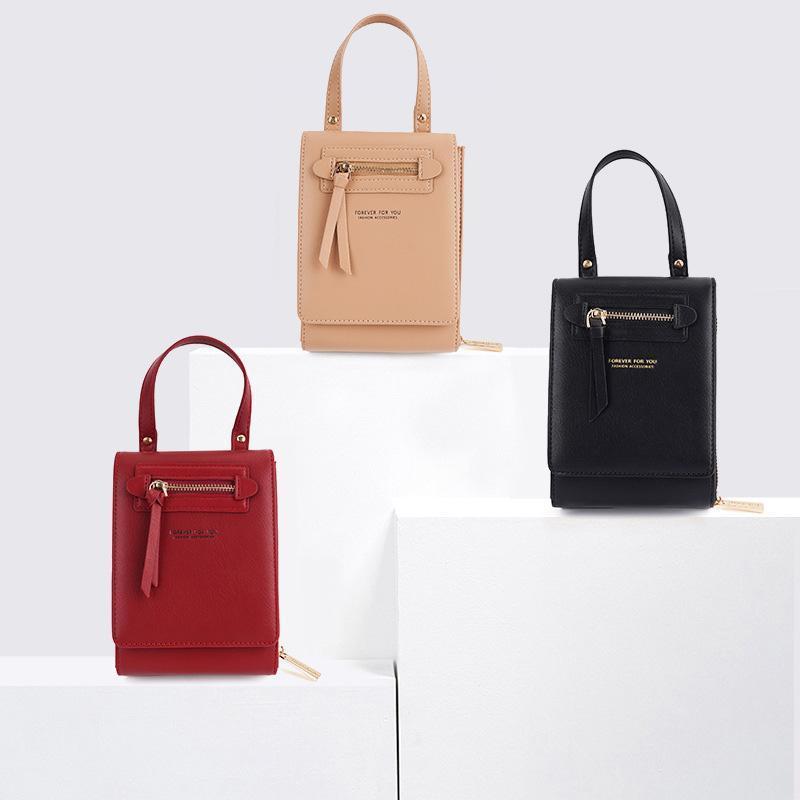 Borsa a tracolla da donna Ladies Portable Crossbody Coll Phone Bag Designer Designer Small PU cartolina porta borsa multifunzionale