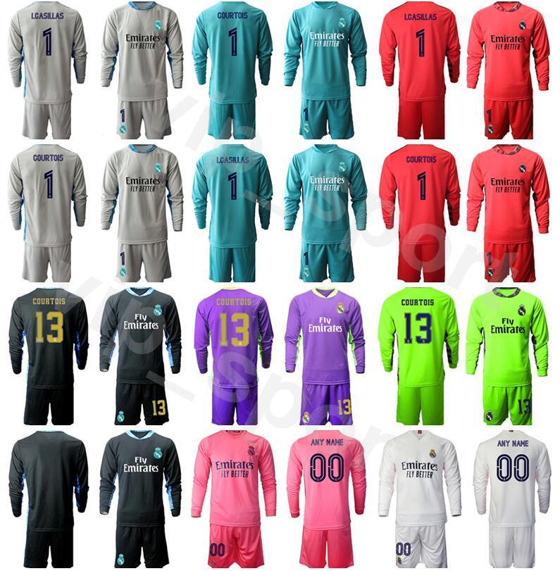 2021 Soccer Goalie Real Madrid Long Sleeve Iker Casillas Jersey ...