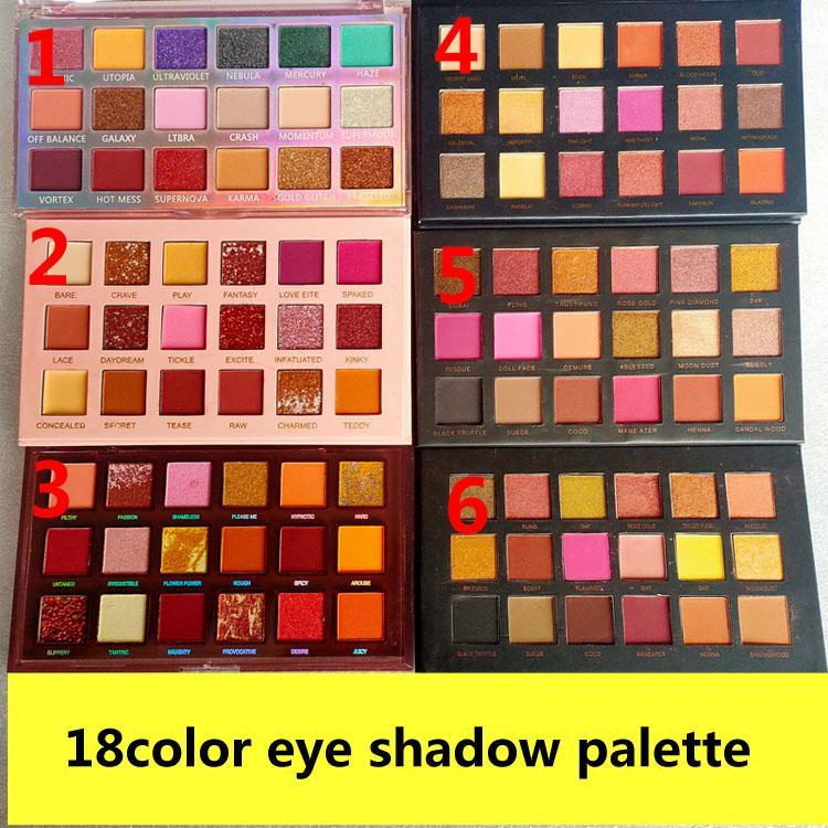 ماركة 18 اللون ظلال العيون لوحة ماكياج 18 ألوان ظلال العيون لوحة ماتي جودة عالية dhl شحن مجاني