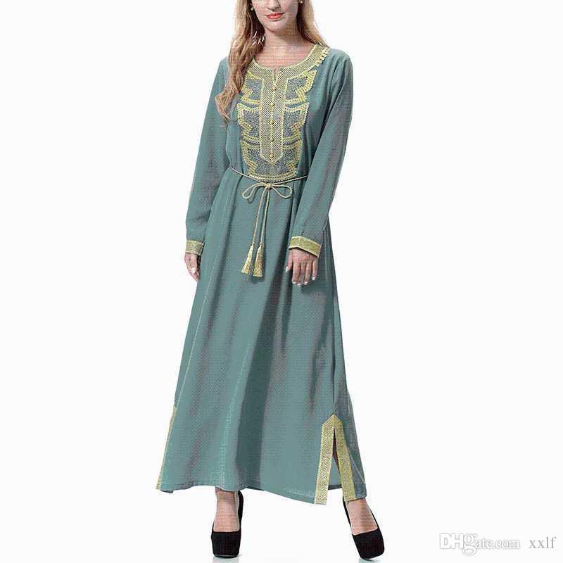 Ramadan Robe Abaya Dubai Muslim Kleid Ramadan Kleidung für Frauen Dame Wolle Pfirsich Kleid Muslim