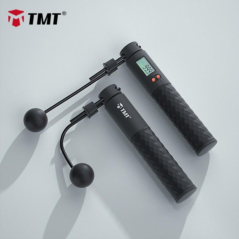 TMT Elektronik Atlama Halkları Hız Kablosuz Atlama Halat Crossfit Anim-Kaymaz Kolu Egzersiz Atlama Eğitim Ayarlanabilir Tel 3M Q1206