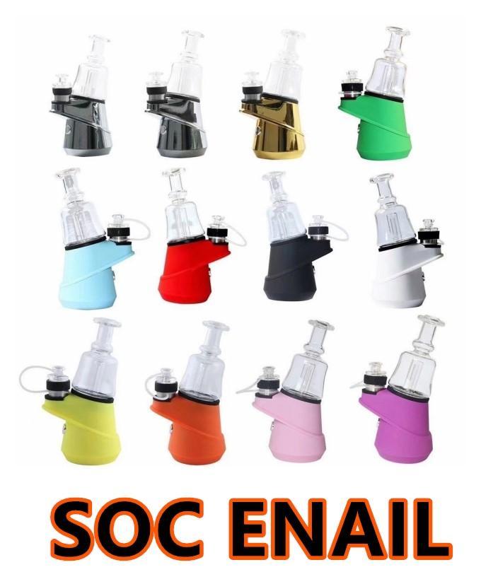 G9 SOC Enail Kit Wax Vaporizer 2800MAH TC VAPE MOD 3 ШТ. Керамический кварцевый углеродный чаша Wax распылитель стекло бонг