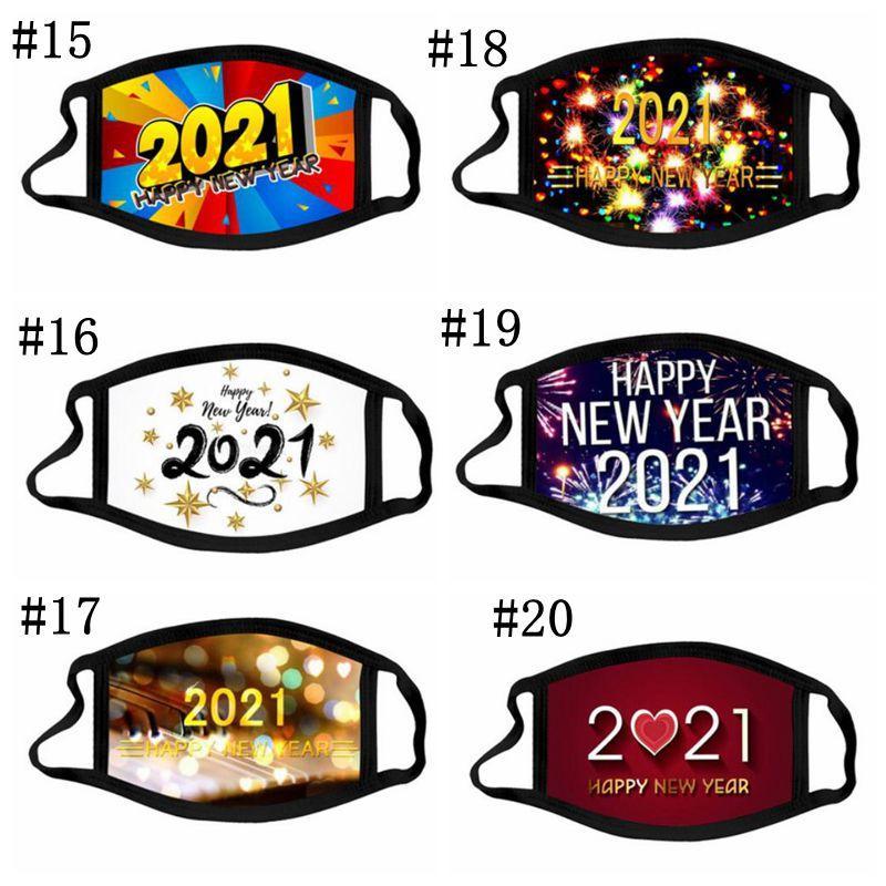 Maschera per il viso di Natale Happy New Year Face Mask Fashionista 20 Style Smasque Smasque Maschera di Natale Maschera di cotone Reusable Designer BWC4210