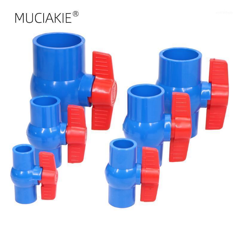 Muciakie 20 / 25 / 32 / 40 / 50 / 63mm 인라인 PVC 볼 밸브 컴팩트 T- 핸들 워터 차단 슬립 배관 파이프 워터 커넥터 관개 1