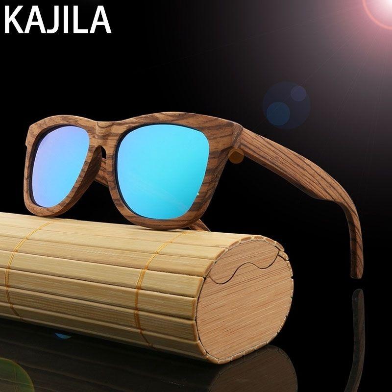 Yeni Varış 2020 Kare Polarize Bambu Güneş Gözlüğü Erkekler Retro Marka Tasarımcısı Ahşap Kadın Erkek UV400 Için Güneş Gözlükleri Toptan BA78