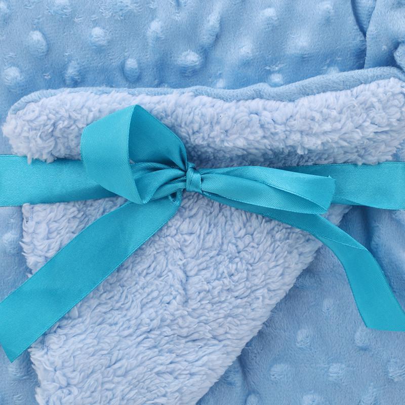 Утолщение детских одеял Двойной новый слой мягкий коралловый флис младенца пелена для коляски Wrap Newborn Newborn Baby Bedging Clobal Solid NV35 # 3W6L