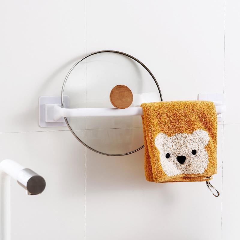 Asciugamani a prova di umidità Barrette da bagno in tracciabile Bagno da bagno 1 strato Rimovibile Chiusura PP Binari Lungo Breve Black Bianco 4Yha L2