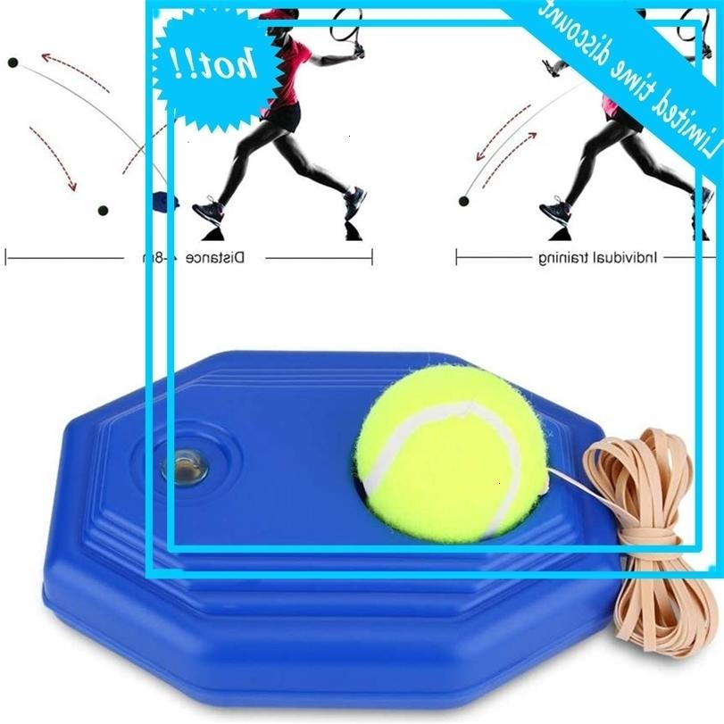 Plastic Practical trainer Comfortable grip Single self-study tennis training tools Equipment with ball 23x15x8.5cm