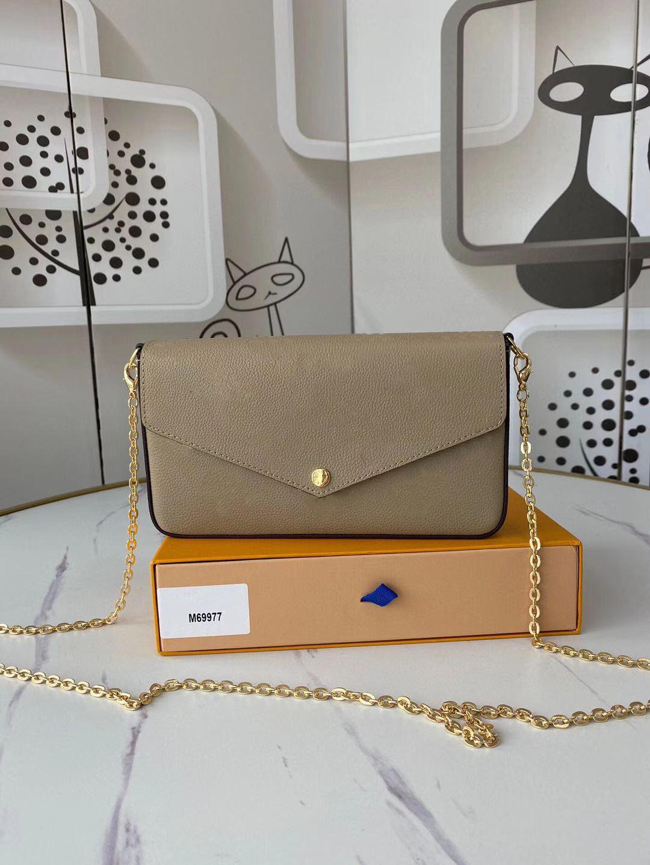 3 PCS / 세트 즐겨 찾기 멀티 포크 펠리시 여성 디자이너 어깨 가방 레이디 가죽 크로스 바디 지갑 메신저 가방 꽃 상자 무료 배송