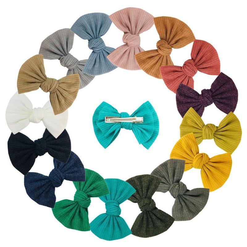 4 polegadas Bebê Bow Handpin Handwork Macio Girl Girl Clipes Moda Acessórios Multicolour Hairpins Venda quente 2 04KX F2