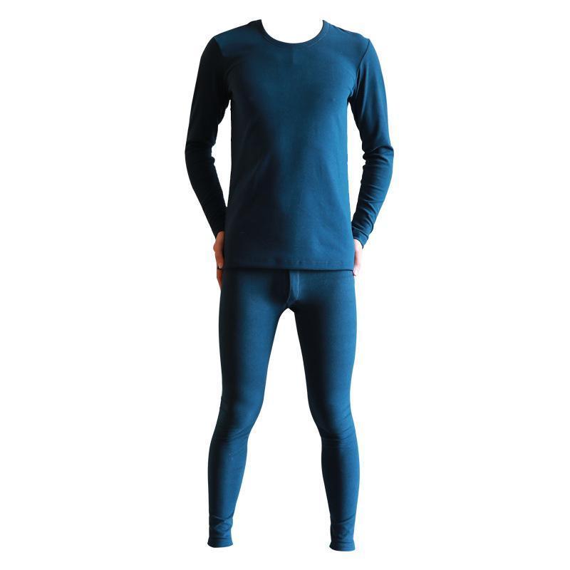 الرجال الملابس الداخلية الحرارية الرجال طويل جونز زائد المخملية جولة الرقبة ضئيلة مجموعة leggins منامة أوم مثير النوم السراويل الدافئة