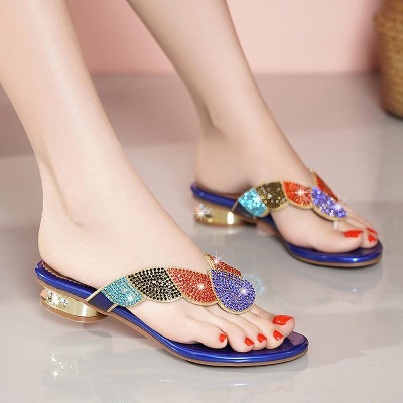Sandalias para mujer para mujer Sandalias Summer Summer Slippers para moda plana
