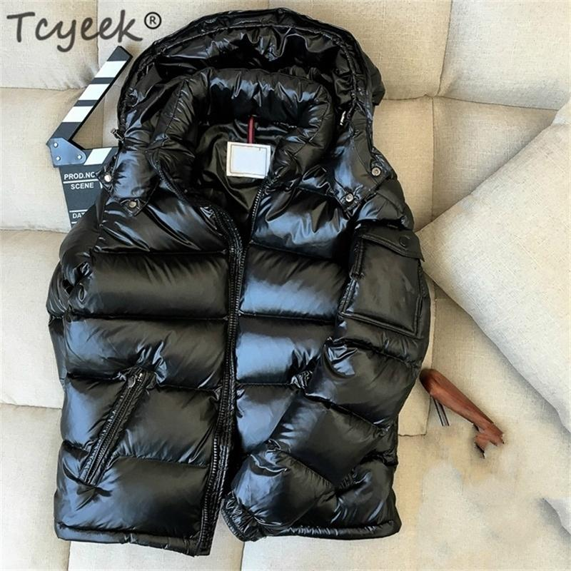 Tycyek Giacca invernale Uomo spesso caldo ultraleggero 90% bianco anatra cappotto maschio con cappuccio uomo abbigliamento casual outwear lwl1153 201226