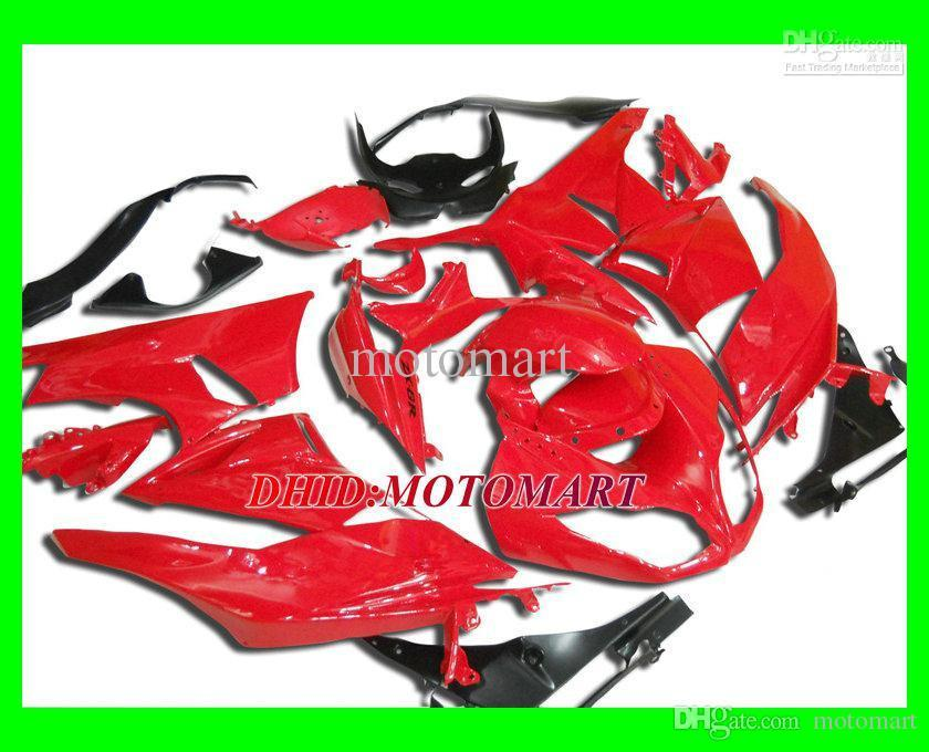 ABS-Hot Red Fairing-Kit für Kawasaki Ninja ZX6R 09 10 ZX-6R ZX 6R 636 2009 2010 Verkleidungen Set + 7Geschen