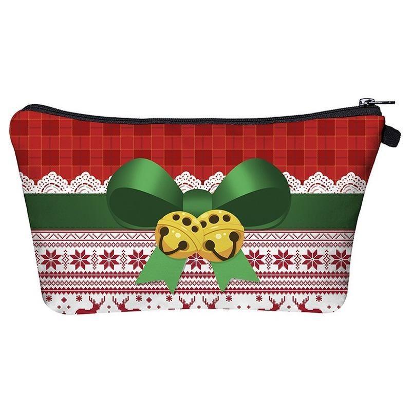 HOT Christmas Cosmetic Bag Cartoon Handbag Waterproof Purse Saves Mask Zipper Wallet Women's Makeup Mobile Mask Storage Pencil Bags