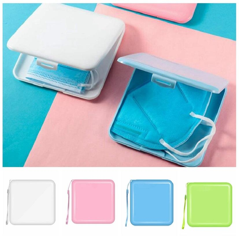 4 colors Portable Mask Storage Box Face mask Moisture Dust Proof Container Disposable Face Mouth Cover Holder Mask Storage Case HHA3461