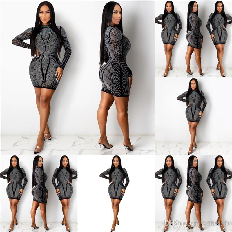 S7X Fantoye Fashion Nouvelle robe de soirée pansante robe sexy femme robe Casl automne bretelles clubwear forfait robe de forage chaude élégante célébrer oucr