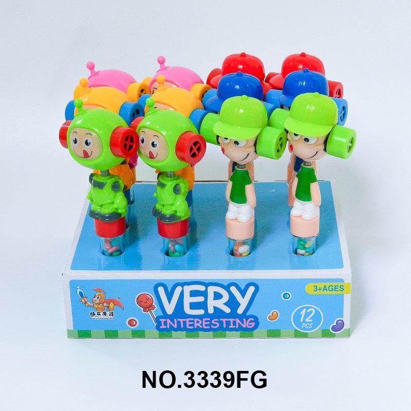Schütteln Kopfpfeife Spielzeug, Süßigkeitenspielzeug, Schütteln Kopf Pfeife Süßigkeitenspielzeug, eine Vielzahl von niedlichen Formen und leckeren Süßigkeiten sind lecker und lustig