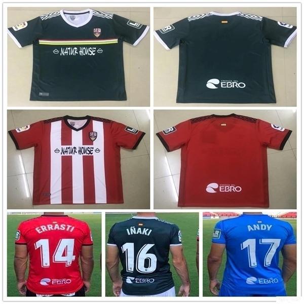 20 21 Ud Logroñés Jersey Zelu Vitória Andy Inaki Errasti Personalizar 2020 Logrones Home Camisetas de Fútbol Camisa de Futebol