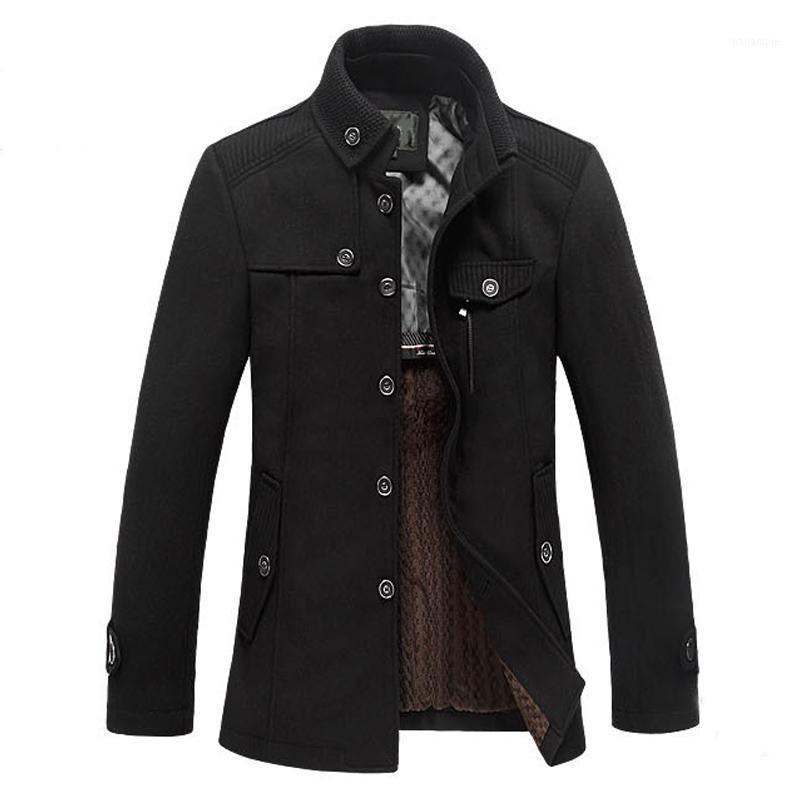 2018 novo inverno homens jaqueta jaqueta casaco moda colar de colarinho colar de colarinho magro encaixar overcoat macho trincheira outerwear1