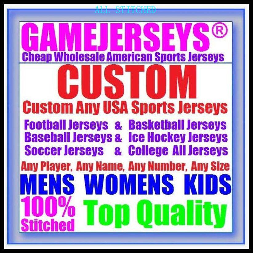 Custom Baloncesto Béisbol Hockey sobre hielo Jerseys de fútbol americano para hombres Mujeres Número de juventud Popular2021 Jersey de fútbol Elite 4XL 5XL 6XL