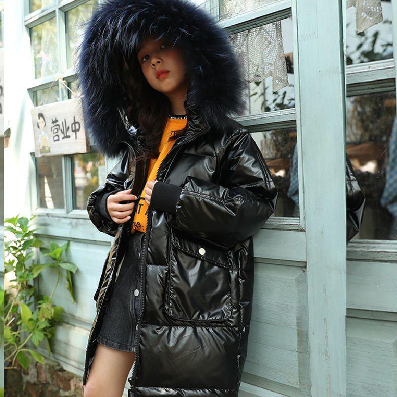 Русские молодые девочки пальто зима Parkas Eartwear Teenager Outfit дети ребенк девочек меховая куртка с капюшоном на 8 9 10 11 12 лет 201127