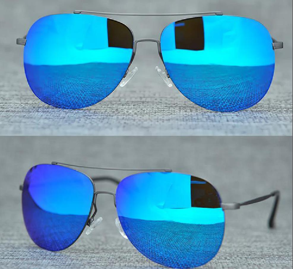 New Men Women 789 Sunglasses High Quality Polarized Rimless Lens Very Sports Driving Sunglass With Case