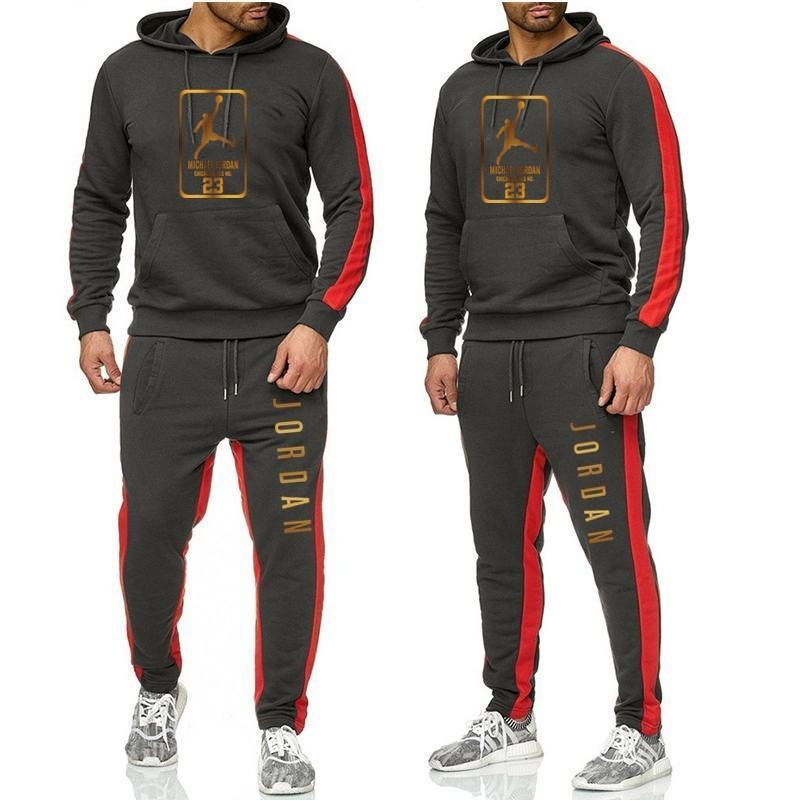 Novo no Hoodie Queda Jogging Sportswear Casual Wear Sport Suit