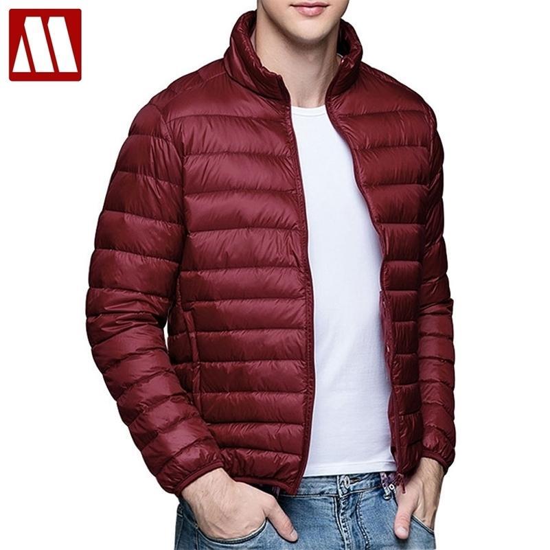 2020 Yeni Rahat Marka Beyaz Ördek Aşağı Ceket Erkekler Sonbahar Kış Sıcak Ceket erkek Ultralight Ördek Aşağı Ceket Erkek Rüzgar Geçirmez Parka LJ200918