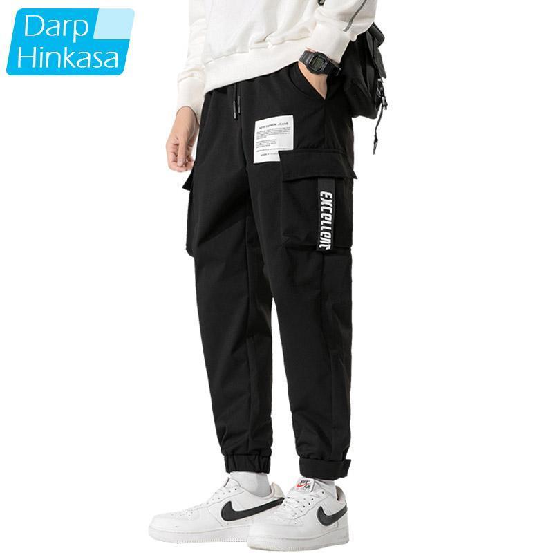 2021 Primavera Black Harem Pantaloni da uomo Casual Slimet Joggers Sweat Pantaloni da uomo Streetwear Harajuku Hip Hop Pants