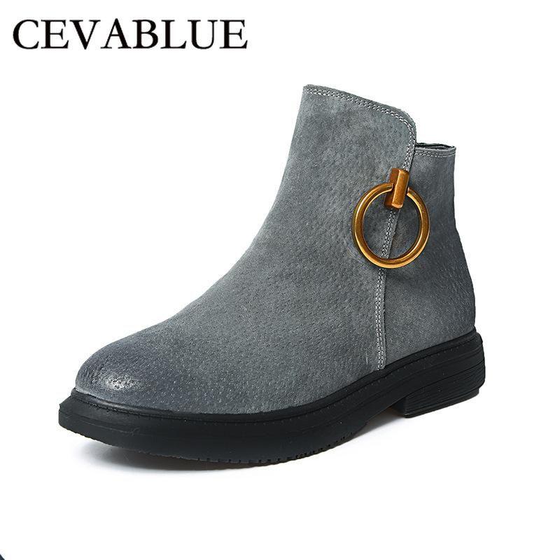Cevabule Botas do tornozelo do vintage Britânica Botas de couro de couro de couro de couro polido botas. Ljy-1021.