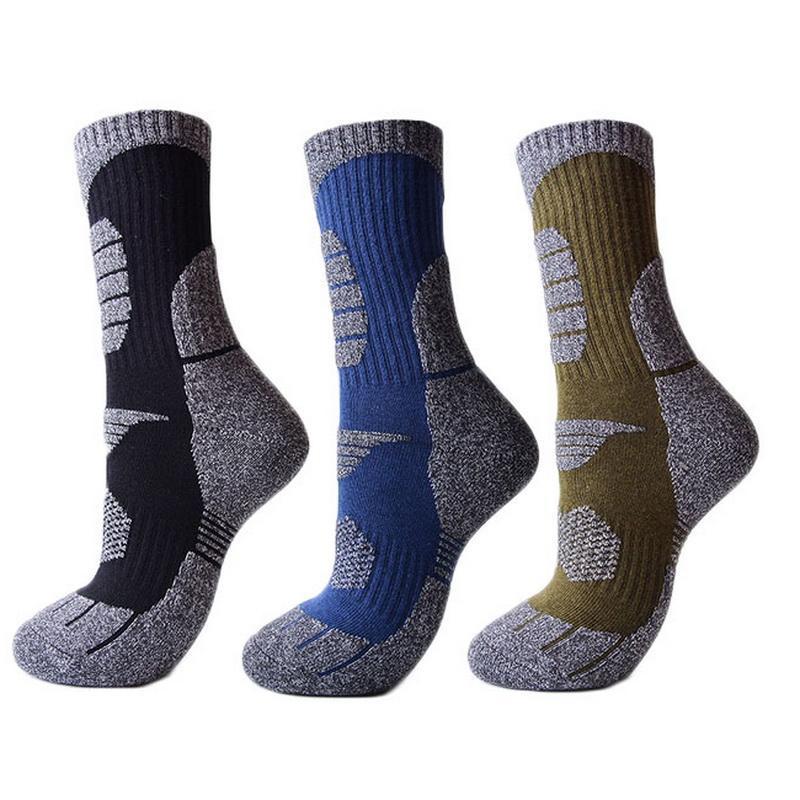 3 paires d'hiver épaissir chaussettes chaudes hommes femmes Sports de plein air chaussettes pour camping randonnée escalade ski thermique noir 7 couleurs