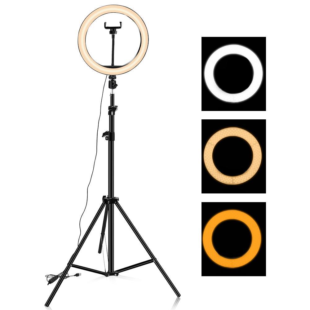 26 cm / 10 inç video canlı ışık usb selfie ışık halka lambası telefon ile çalışır 6 inç ışık standı ile led aros de luz canlı yayın için