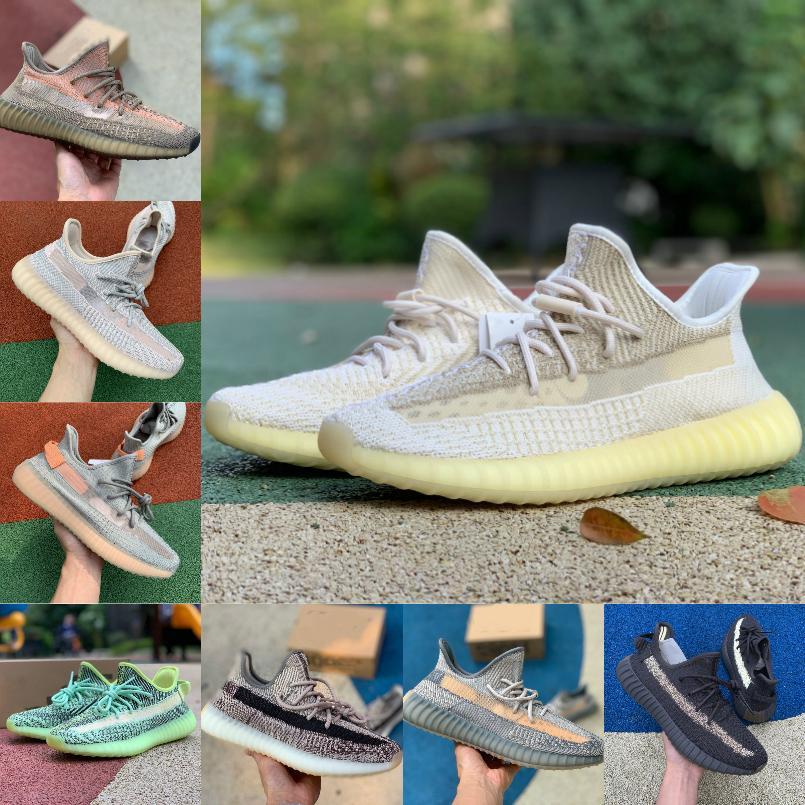 Yeni Fade Eliada Kanye West Erkek Kadın Koşu Ayakkabıları Ucuz Doğal Yekeil Oreo Çöl Sage Earth Asriel Zebra 3 M Statik Yansıtıcı Ayakkabı # 32