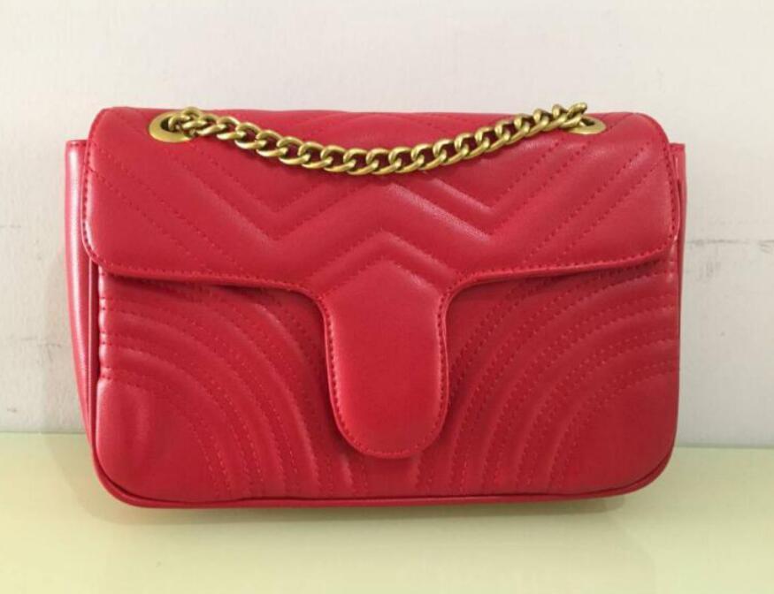 أزياء المرأة هامنت حقائب الكتف المرأة سلسلة حقيبة crossbody حقائب محفظة جودة عالية أنثى رسالة حقيبة ذهبية سلسلة Y20-P0K