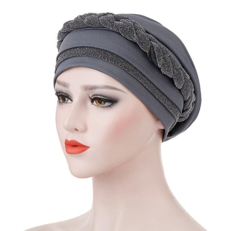 Bere / Kafatası Kapaklar Kadınlar Müslüman Başörtüsü Sıkı Türban Şapka Kafa Eşarp Wrap Kemo Saten Astar Yumuşak Bandana Şapkalar Kap