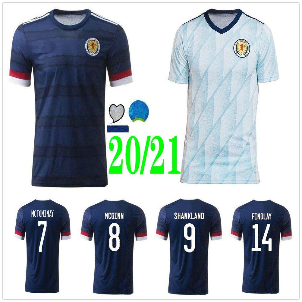 2020 2021 Scotland Soccer Jerseys MCGINN SHANKLAND FINDLAY BOBERTSON ARMSTRONG FORREST Custom 20 21 Home Away Adult Kids Football Shirts